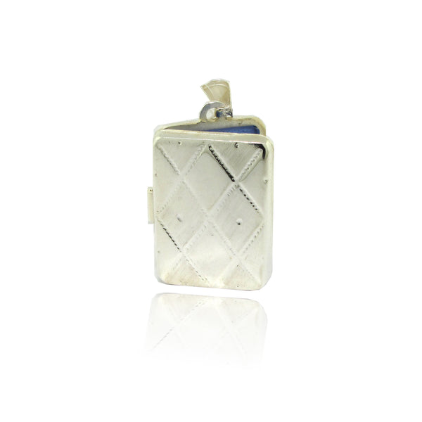 Sterling Silver Square Patterned Locket