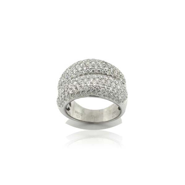 Double Pave Diamond Ring