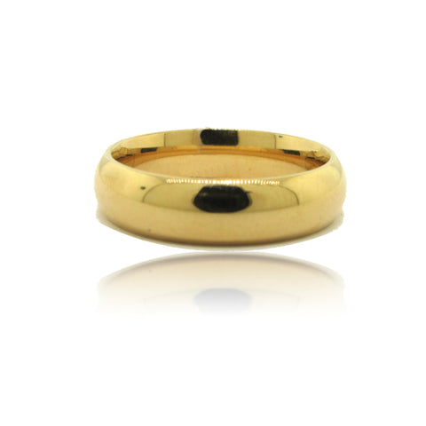 14k Yellow Gold 7mm Band