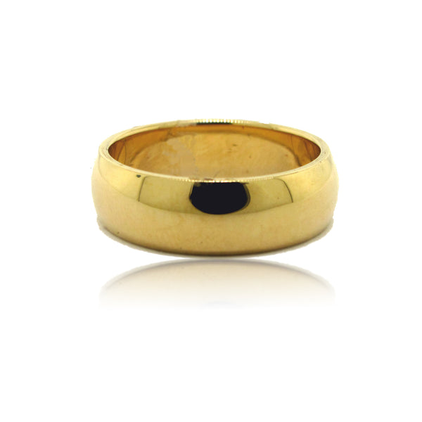 14k Yellow Gold Low Done Band