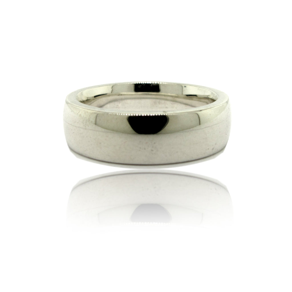 Men's Sterling Silver Low Dome Band