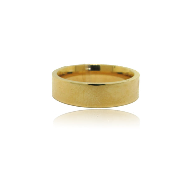 14k Yellow Gold Pipe Fit Band