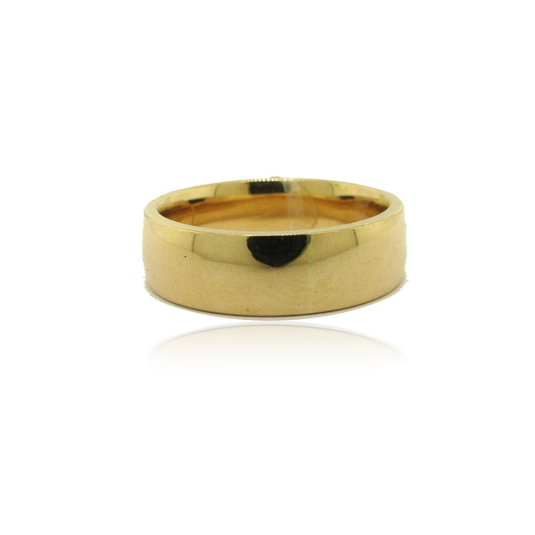 14k Yellow Gold Low Dome Men's Band