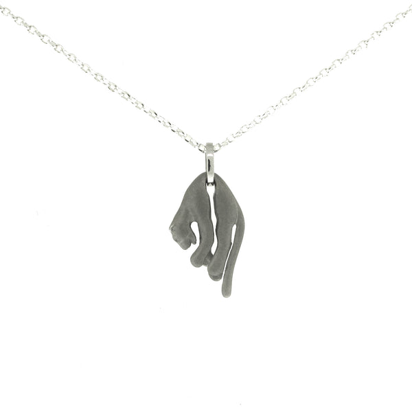 Sterling Silver Panther Pendant