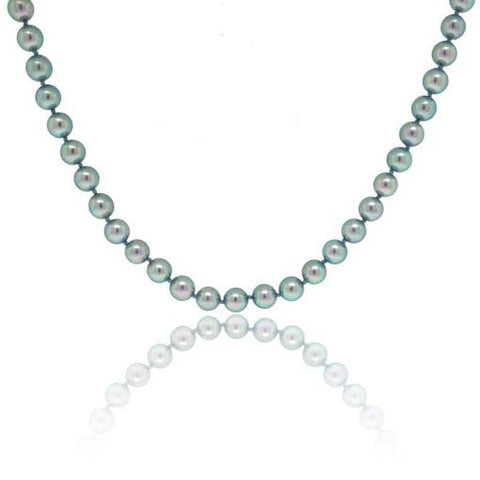 Light Blue Pearl Strand Necklace