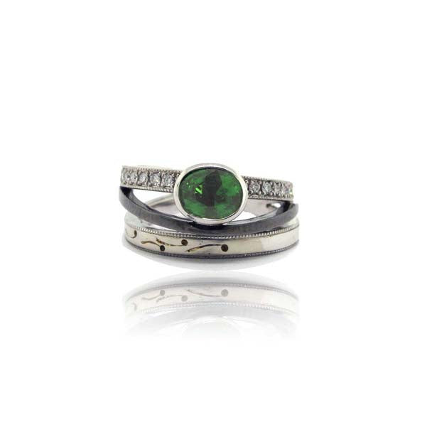 Green Trilogy Ring
