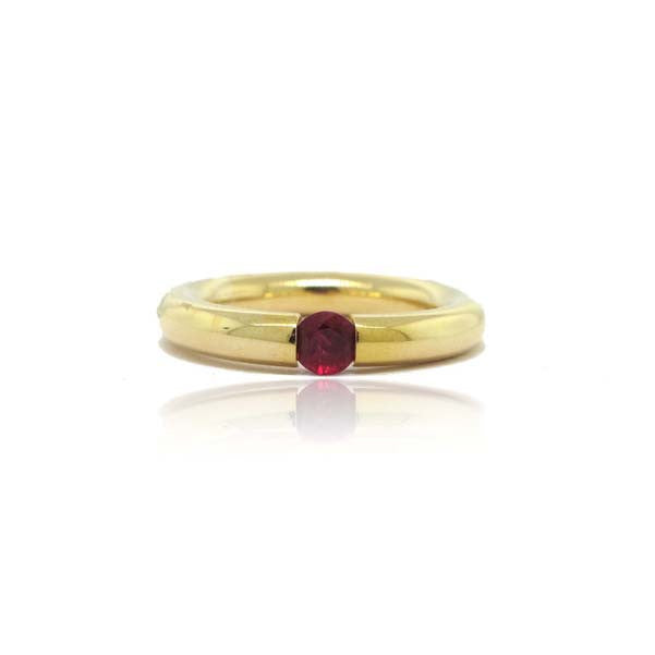 18k Yellow Gold Tubular Tension Ring