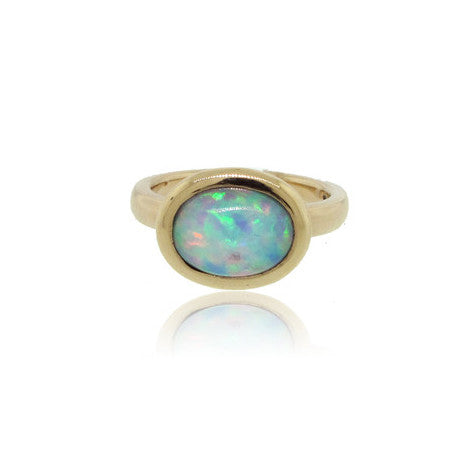 14k Yellow Gold 2.02ct Ethiopian Opal Ring