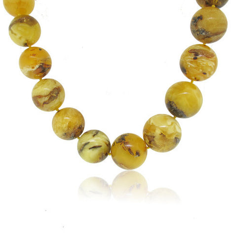Rare Round Large imperial Amber Necklace