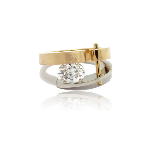 Architect Ring featuring an Oval Diamond