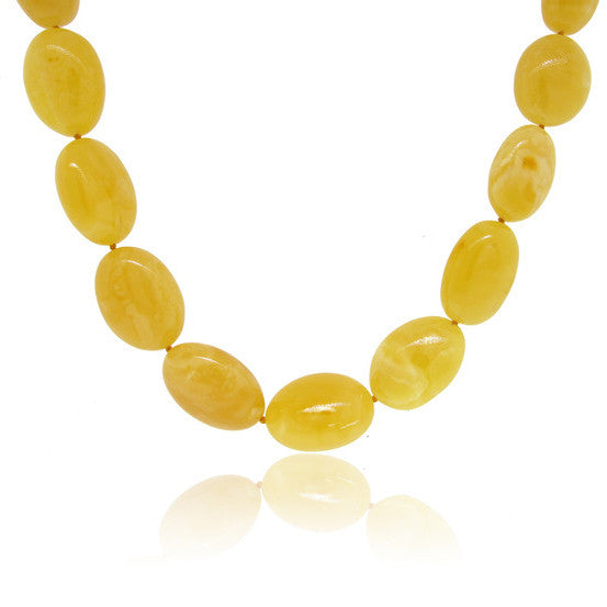 Oval Buttercup Baltic Amber Necklace