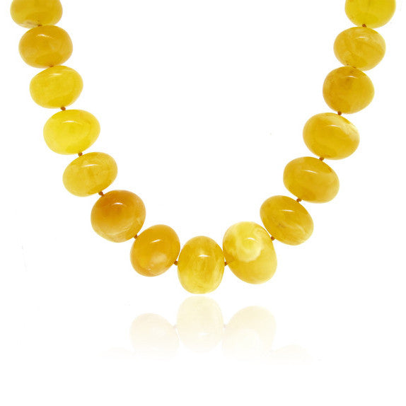 Buttercup Amber Oval Shape Necklace