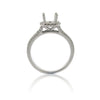 14k White Gold Halo Split Shank Ring