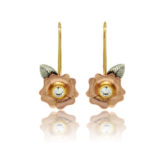 Flower Design Diamond Earrings