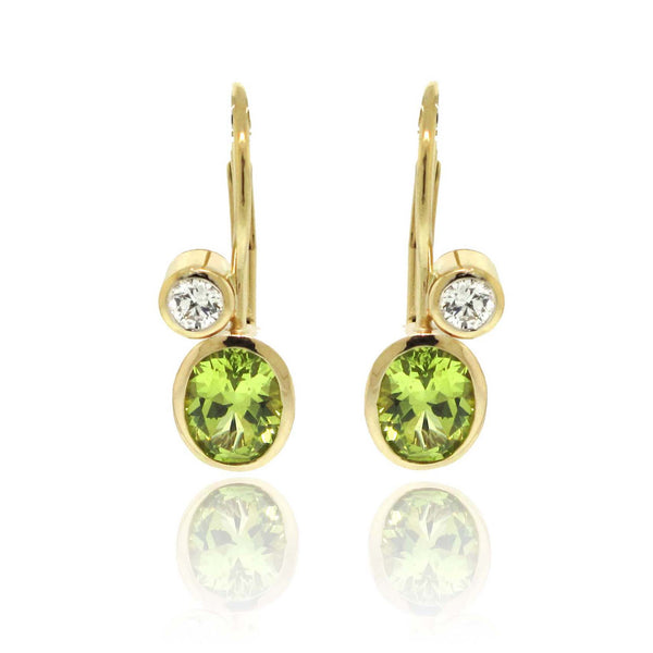 14k Yellow Gold Chrysoberyl Earrings