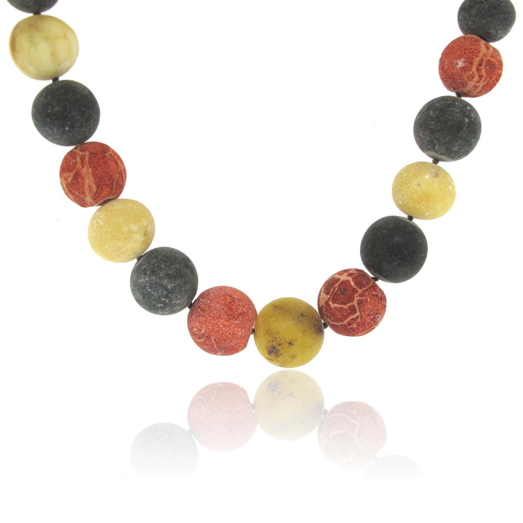 Baltic Amber Necklace with Coral Root and Amber Clasp