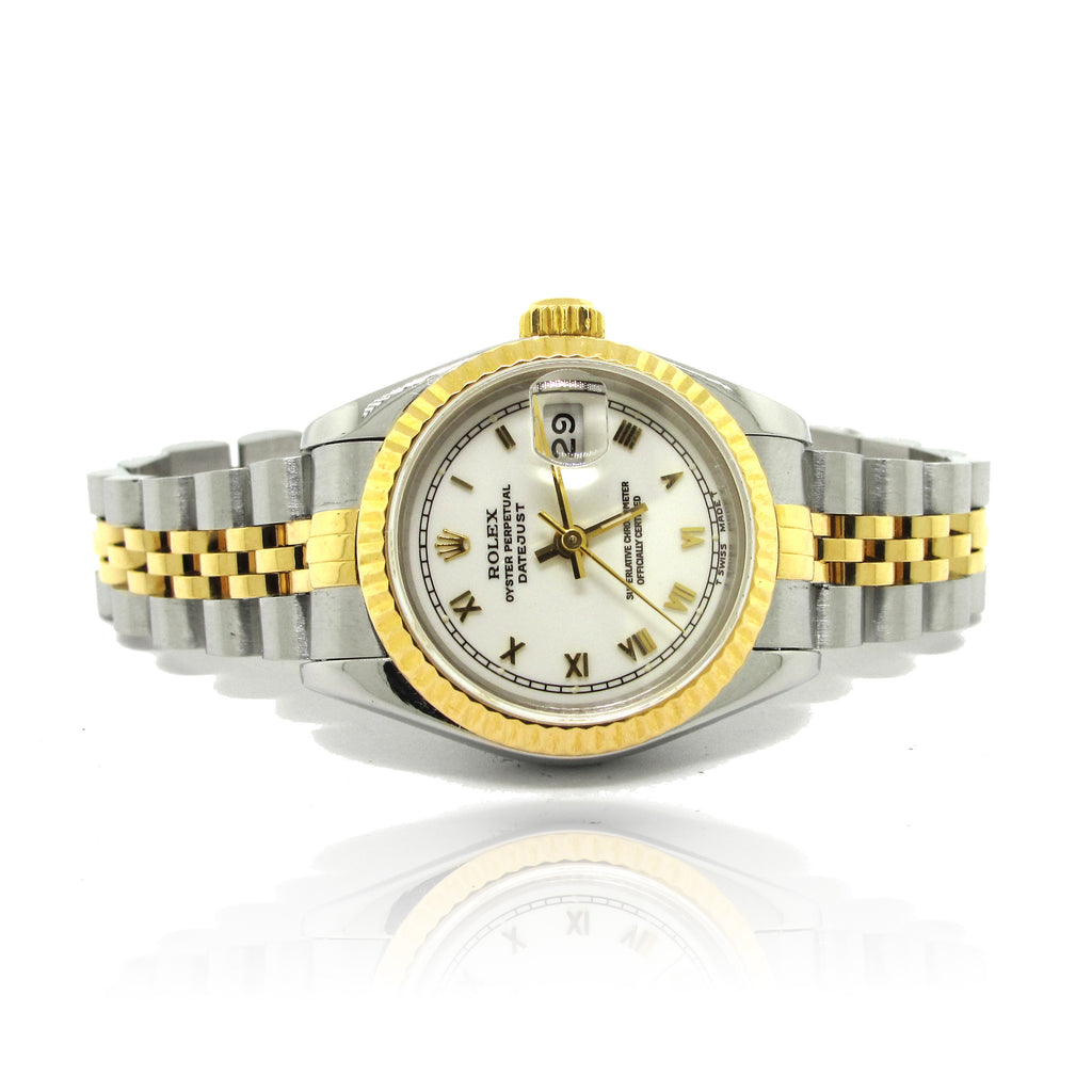 Ladies 18k Yellow Gold and Steel Rolex DateJust yr 1993
