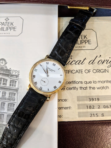 Patek Phillipe 18K Yellow Gold Calatrava Coin Edge Watch
