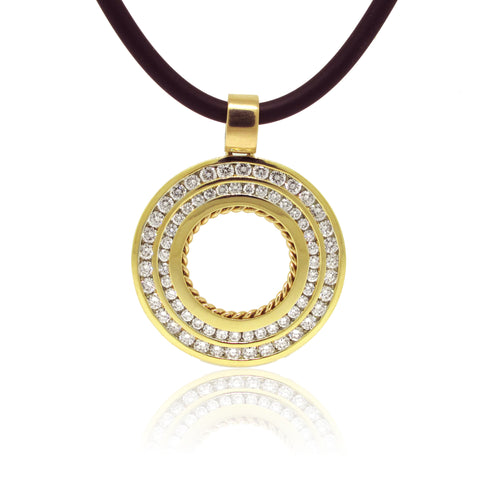 5.49ctw Diamond Medallion Pendant