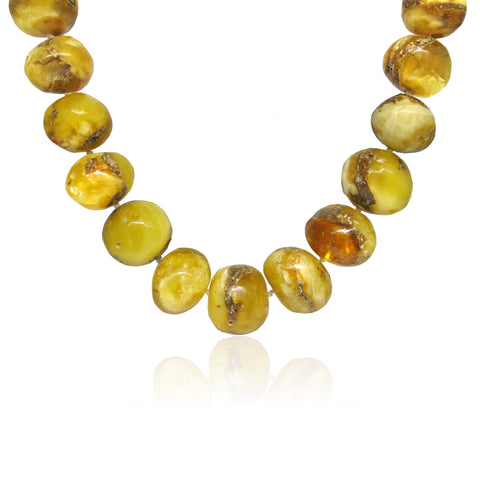 Naturally Shaped Baltic Amber Necklace