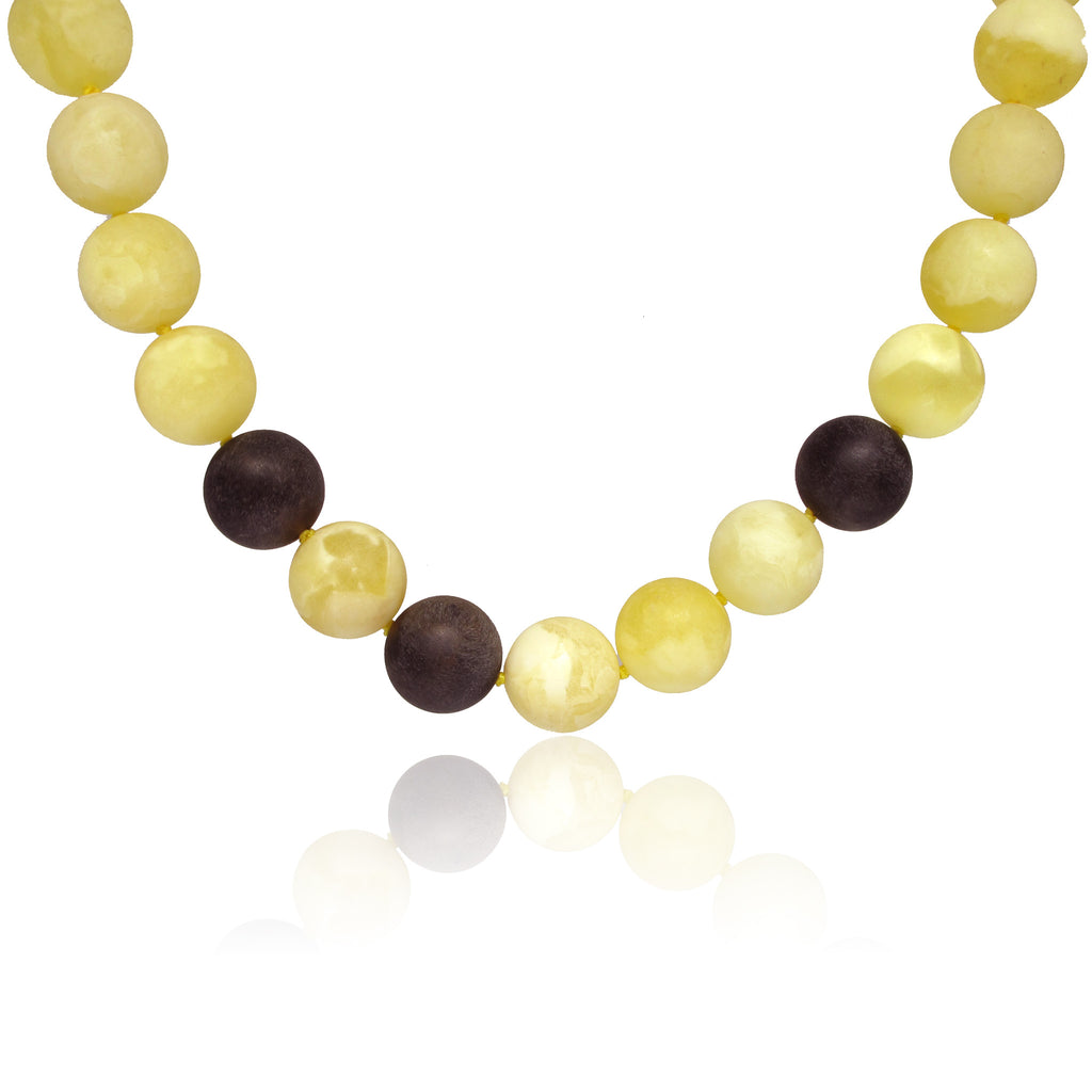 Natural Matte Baltic Amber Necklace