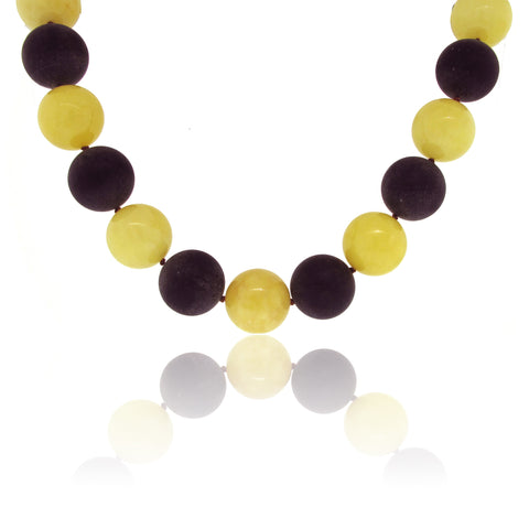 Alternating Amber Necklace with Toggle Clasp
