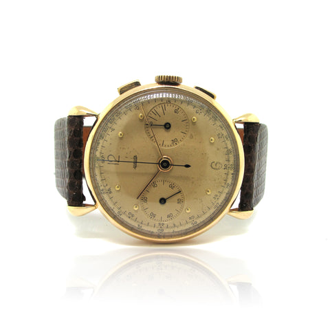 Jaeger Chronograph 18k Rose Gold yr 1930's