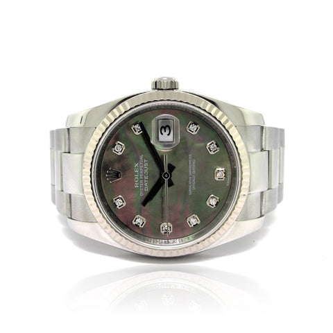 Rolex DateJust MOP with Diamond Numerals yr 2008