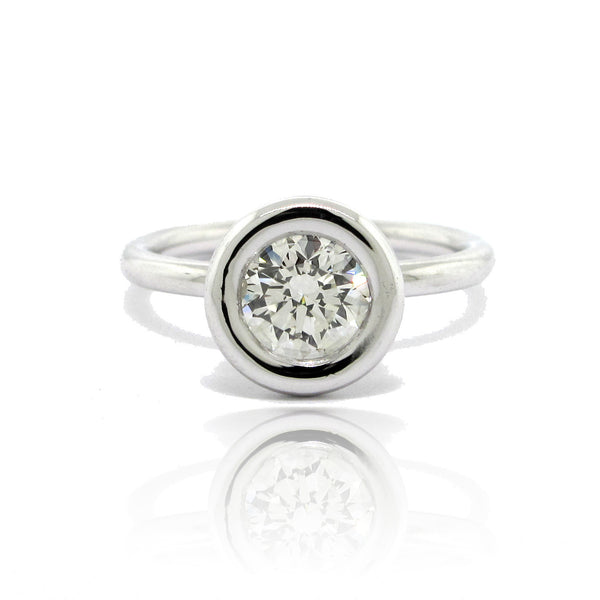 Solitaire Diamond Bezel Set Ring