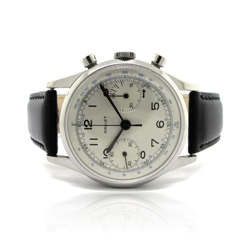 Gallet Chronograph In Stainless Steel 45-Min yr 1940