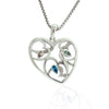 Natural Coloured Diamond Heart Pendant