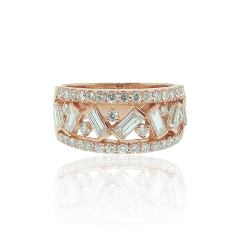 RBC and Baguette Cut Diamond Band