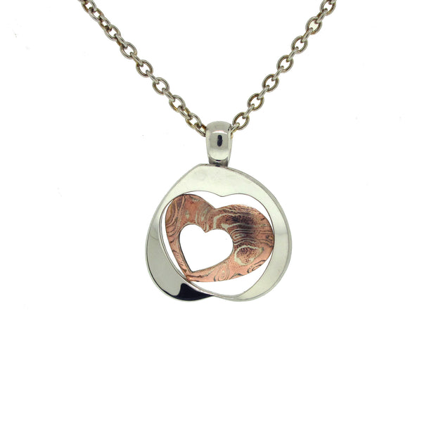 Sterling Silver and Copper Heart