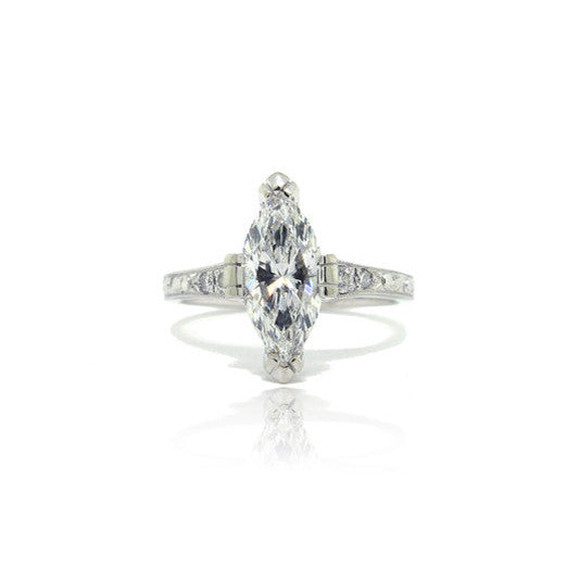14k White Gold Marquise Ring