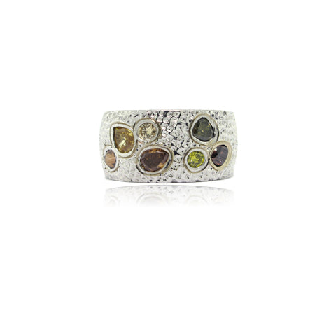 14k Etruscan Diamond Ring