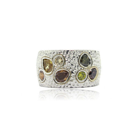 14K W/G Etruscan Diamond Ring