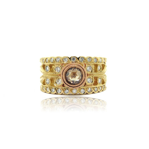 14k Rose and Yellow Gold Ring