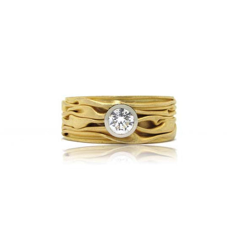 22k Yellow Gold Diamond Ring