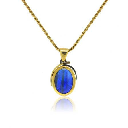 18k Yellow Gold Opal Pendant