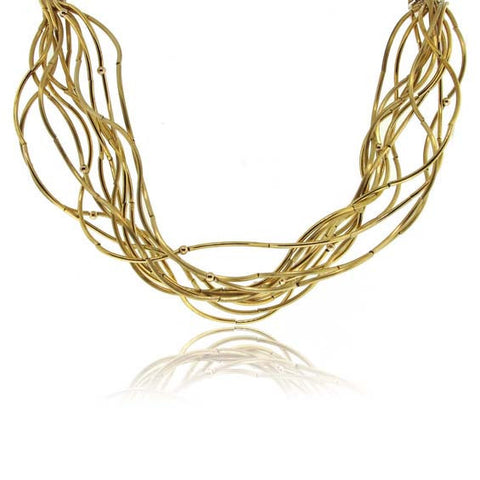10k Yellow Gold Wave Necklace