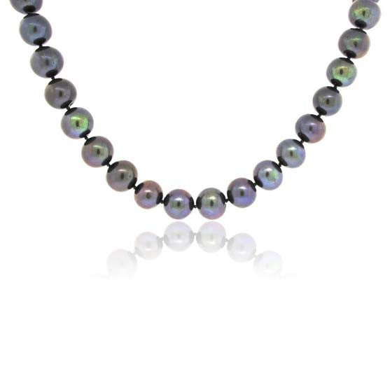 14k Black Fresh Water Pearl Necklace