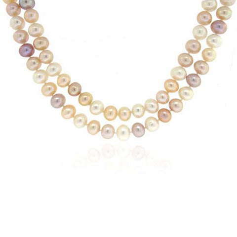 Fresh Water Pearl Necklace Double Wrap