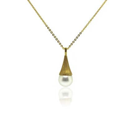 18k Yellow Gold South Sea Pearl Pendant