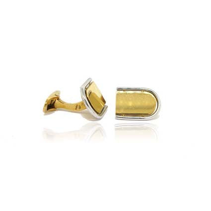 18k White and Yellow Gold Cufflinks