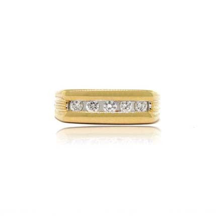 14k Yellow Gold 5 Stone Diamond Ring