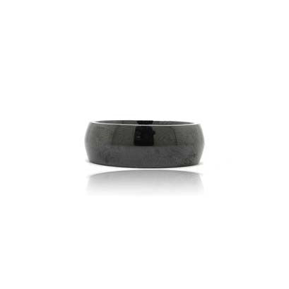 Black Domed Ceramic Ring
