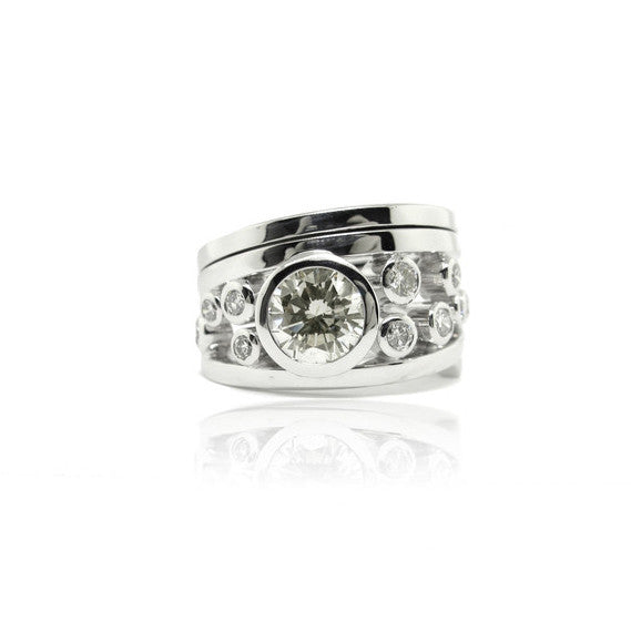 Ladies Multi Diamond Ring