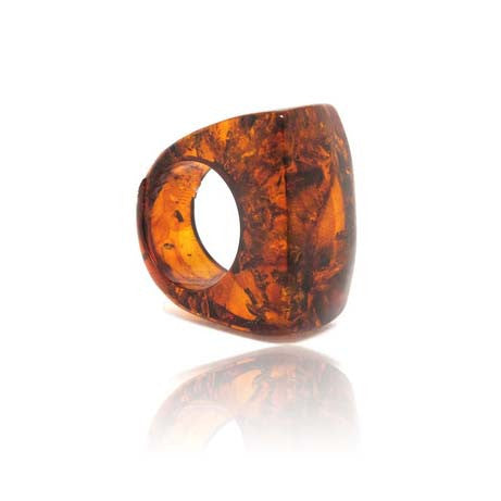 Amber Cognac Ring