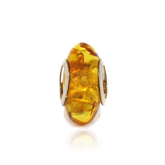Amber and Silver Ring
