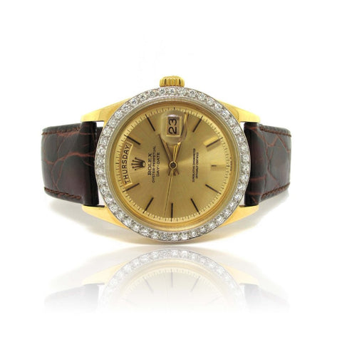 Rolex Day- Date President with Diamonds